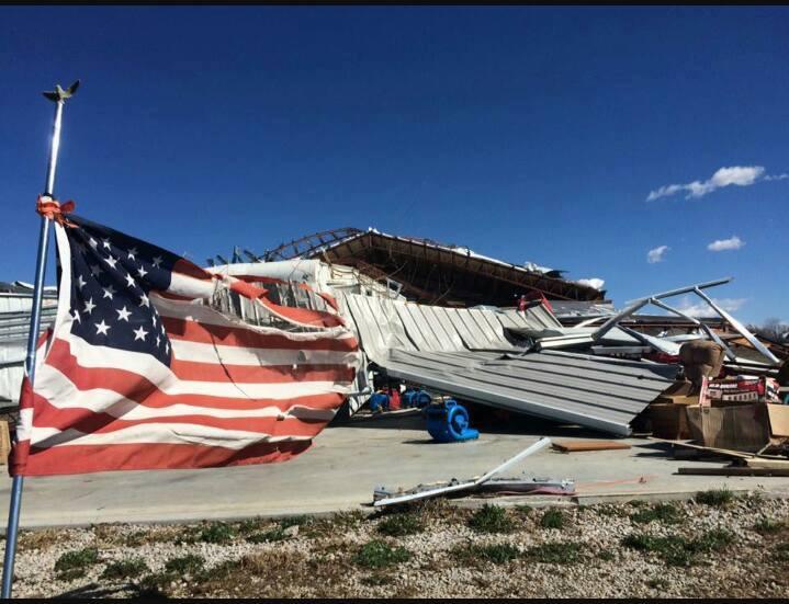 Tornado damage, Oak Grove, MO, March 2017.